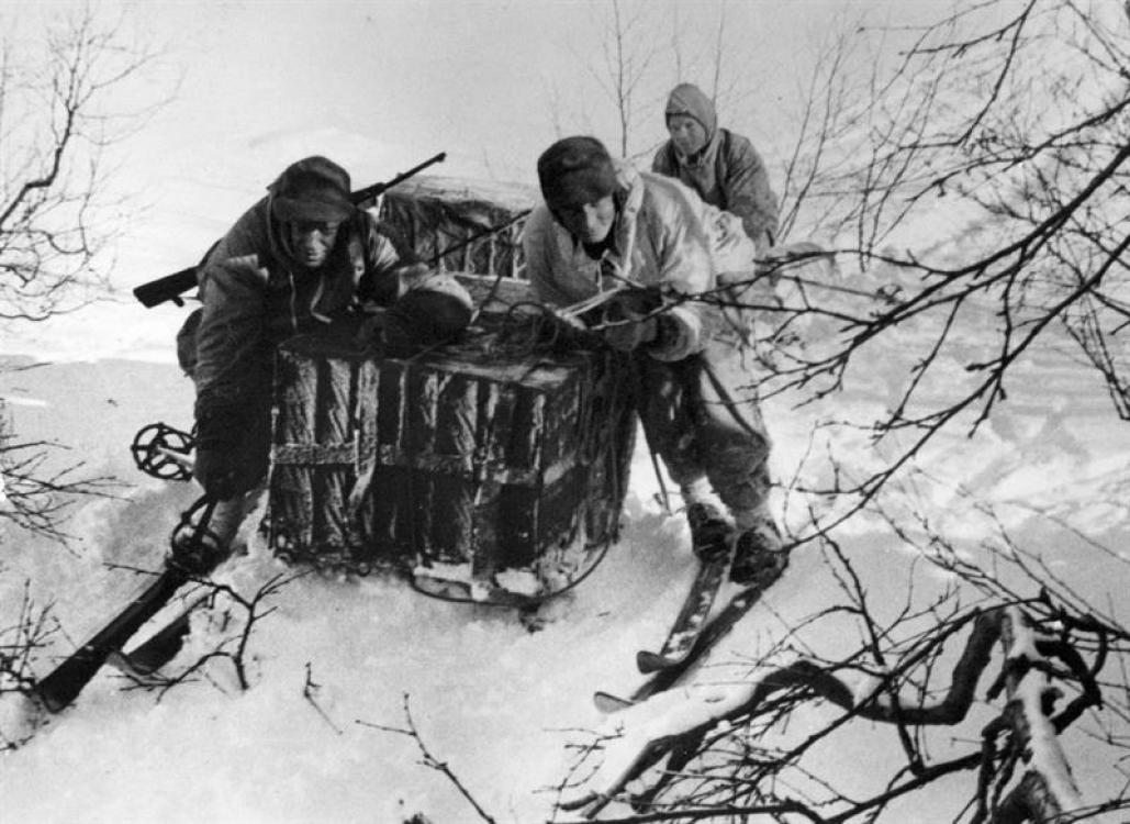 A reenactment scene of Operation Gunnerside.