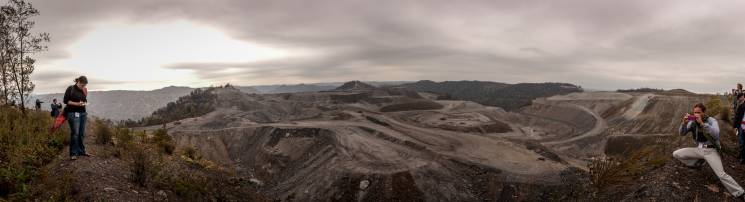 Mountaintop removal coal mining near Charleston West Virginia