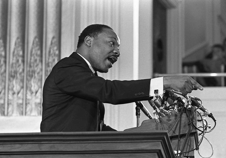 Martin Luther King at the lectern