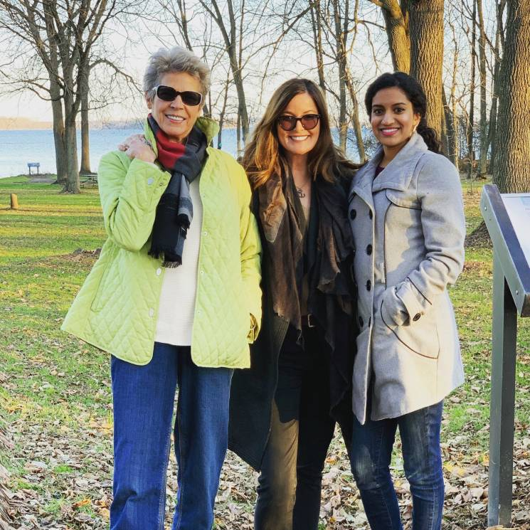 Outrider's Tia Nelson and Sunrise Movement's Varshini Prakash and Generous's Christine Arena filmed at Governor Nelson State Park;