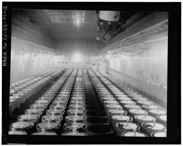 rows of barrels