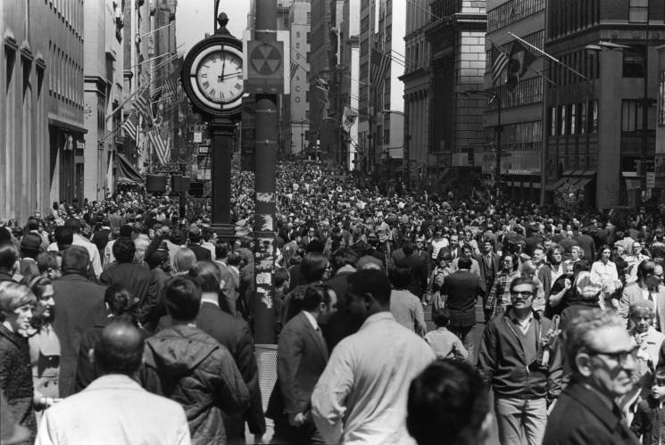 Earth Day 1970 on 5th Avenue; Getty Images