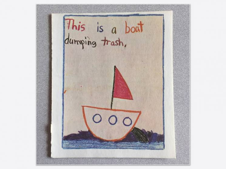 Un bote contaminando nuestras aguas, Penguin Random House Books