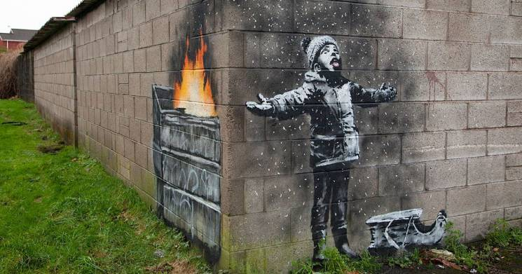 Snow Boy; Banksy