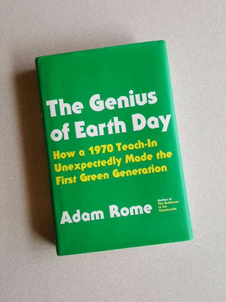 The cover of The Genius of Earth Day by Adam Rome; Outrider Foundation