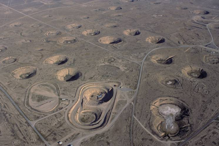nuclear test site craters