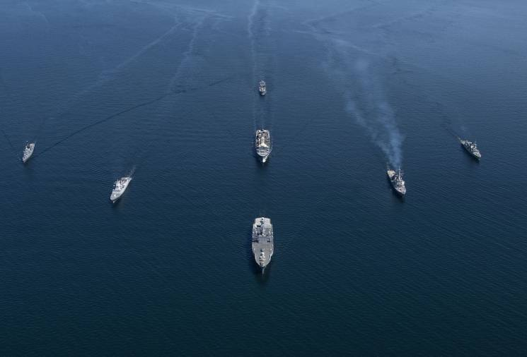 NATO ships sail together