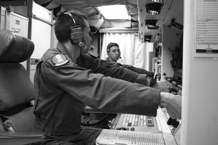 two launch officers practice icbm launch