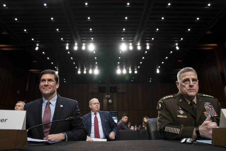 military and civilian leaders testify before Congress