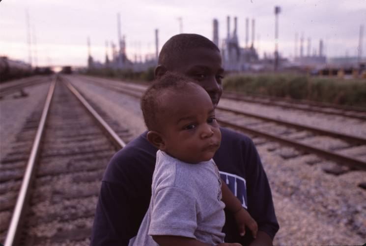 Father and Child in CancerAlley South of Baton Rouge Louisiana; Getty