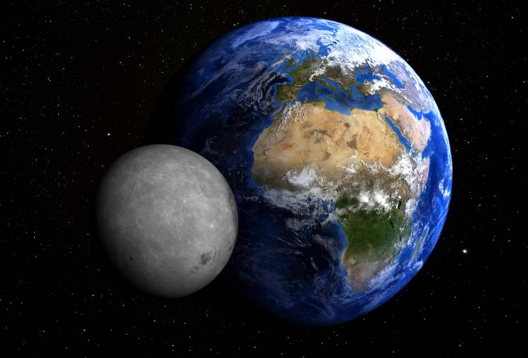 The moon formation is a critical piece to earth's timeline;Getty Images