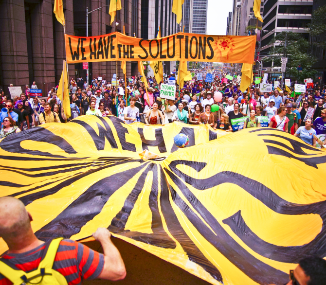 People's Climate March, We Have The Solutions; Joe Brusky, Flickr