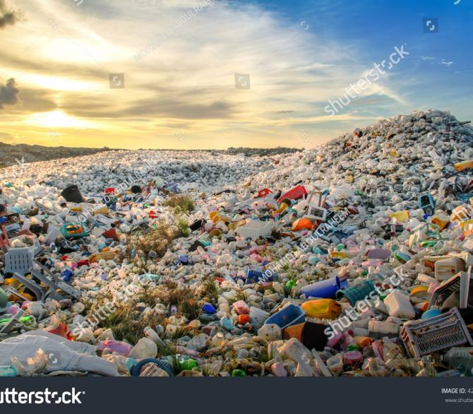 Modern-day pyramids of plastic pollution. Shutterstock