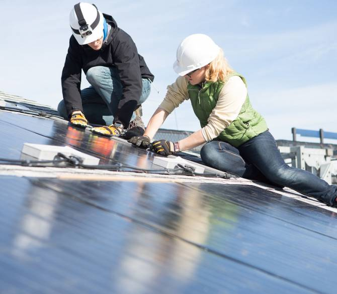 Installing solar panels on rooftops is an economic and environmental investment. Solar panels can help cut down greenhouse gas emissions and utility bills; United States Department of Energy