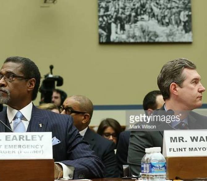 Former Emergency Manager Darnell Earley and Former Mayor Dayne Walling of Flint Michigan Testify;Getty Images