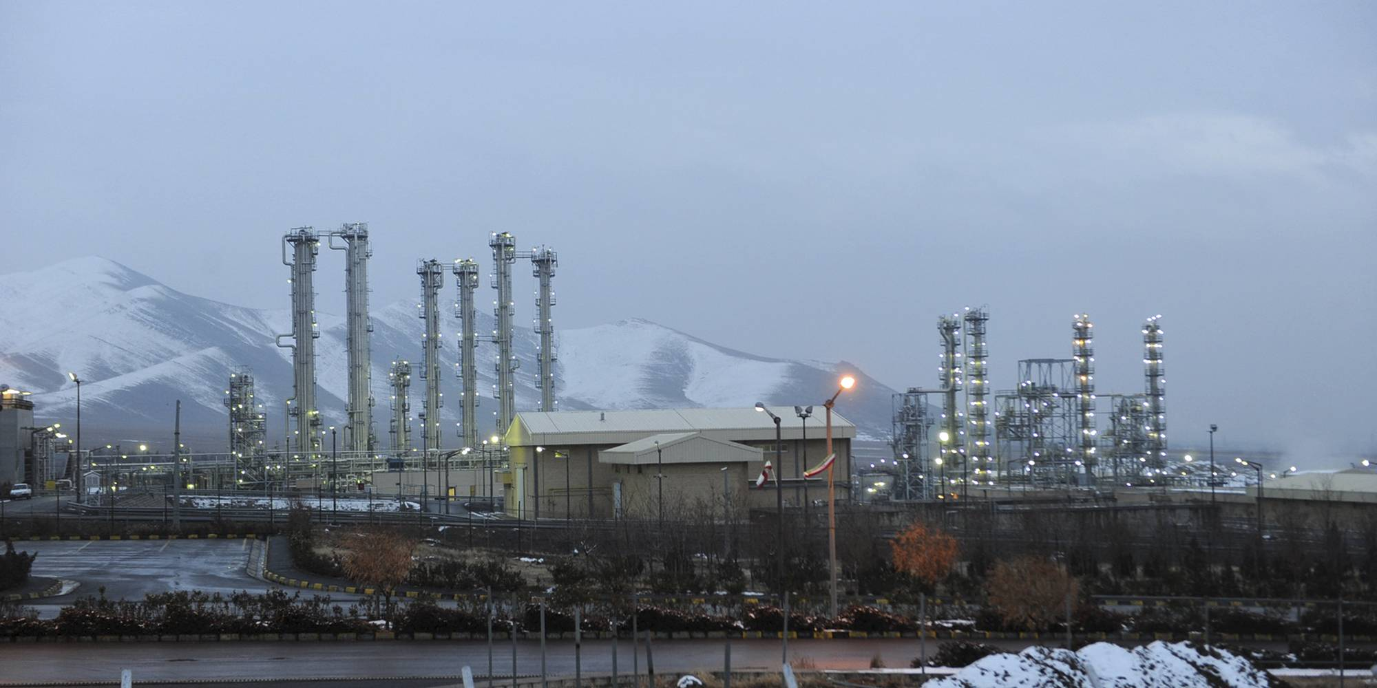 image of Iran's heavy water nuclear facility near Arak, Iran.