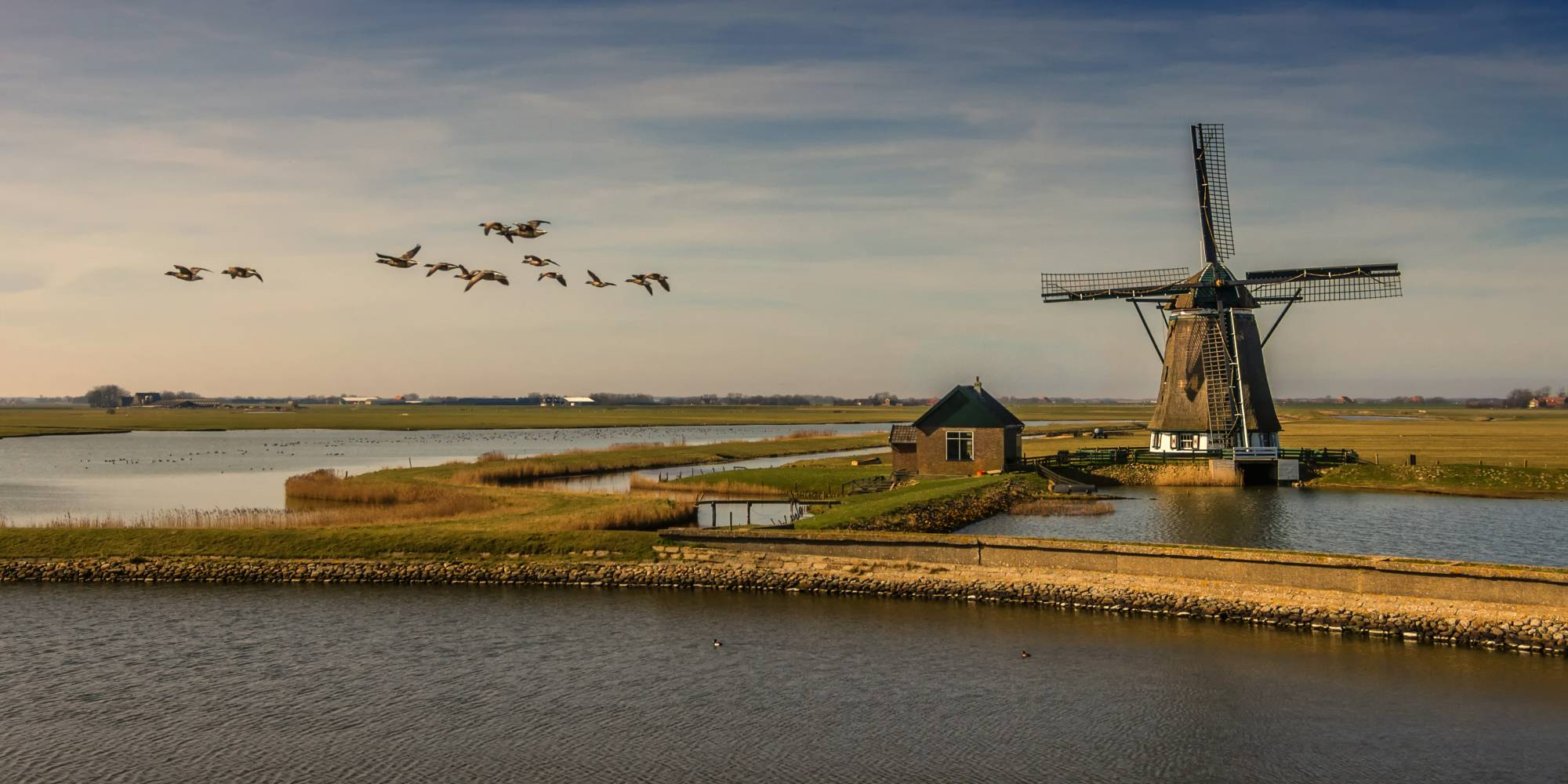 Dutch windmills, now iconic for their aesthetic purposes, once served as economic benefits and practicality of wind power.
